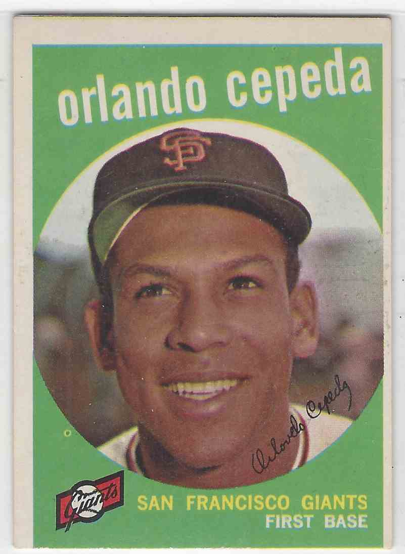 1959 Topps Orlando Cepeda #390 card front image