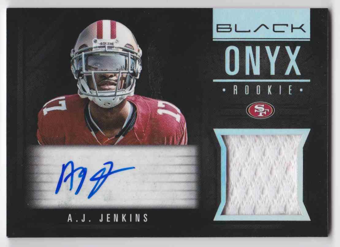 2012 Black Onyx Illini A.J. Jenkins #10 card front image