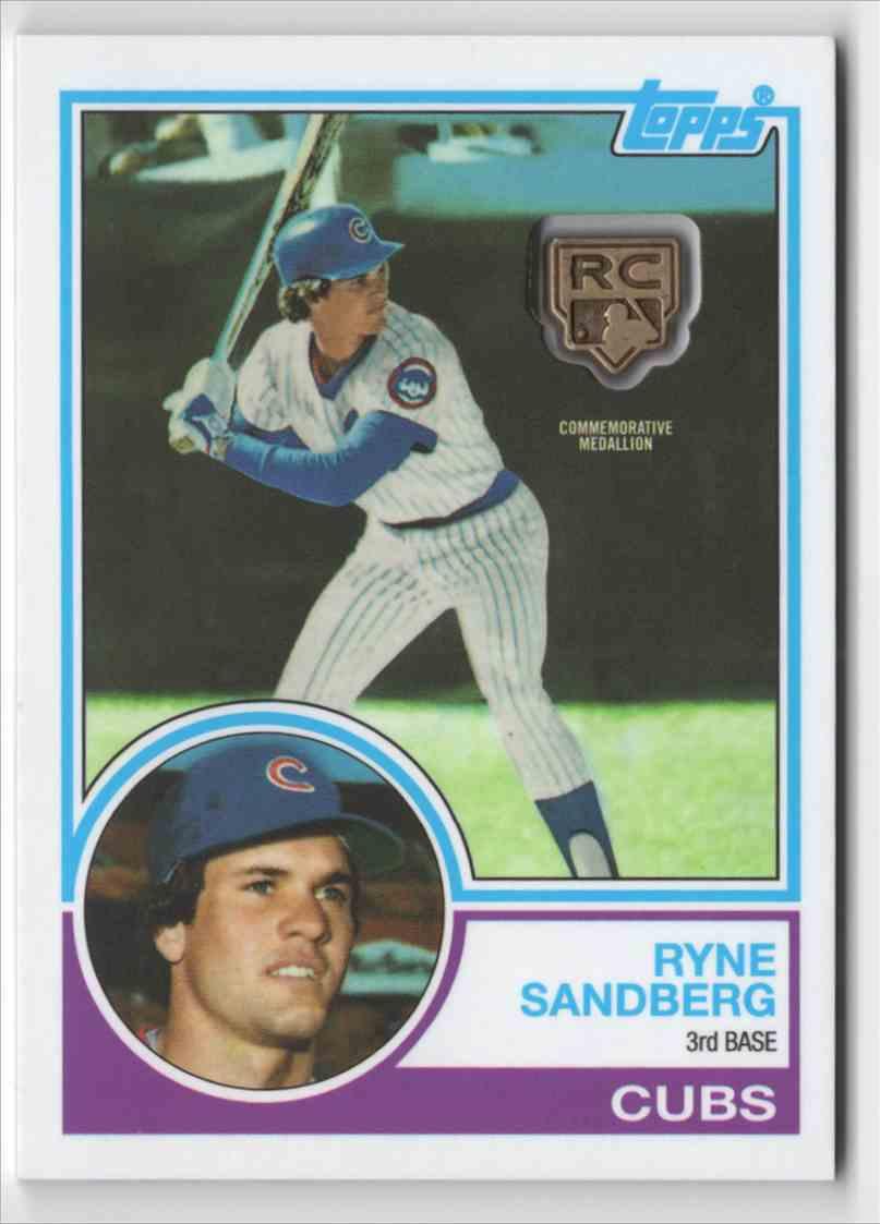 2020 Topps Rookie Card Retrospective RC Logo Medallions Ryne Sandberg #RCRRS card front image