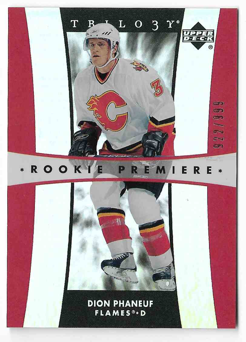 2005-06 Upper Deck Trilogy Dion Phaneuf #179 card front image