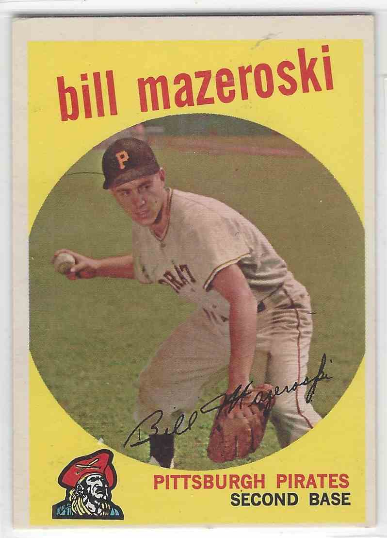 1959 Topps Bill Mazeroski #415 card front image