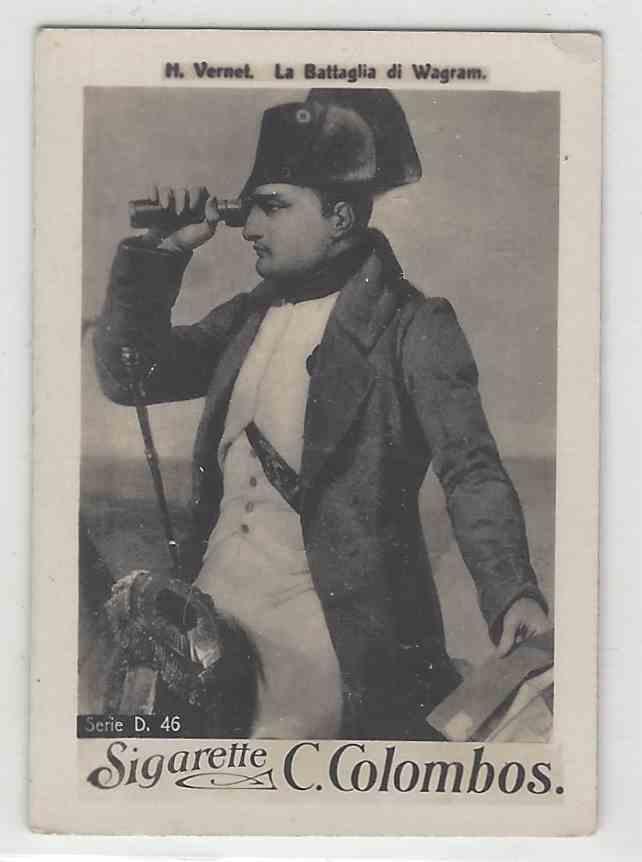 1910 C. Colombos Famous Oil Paintings Series D323 La Battaglia DI Wagam #46 card front image