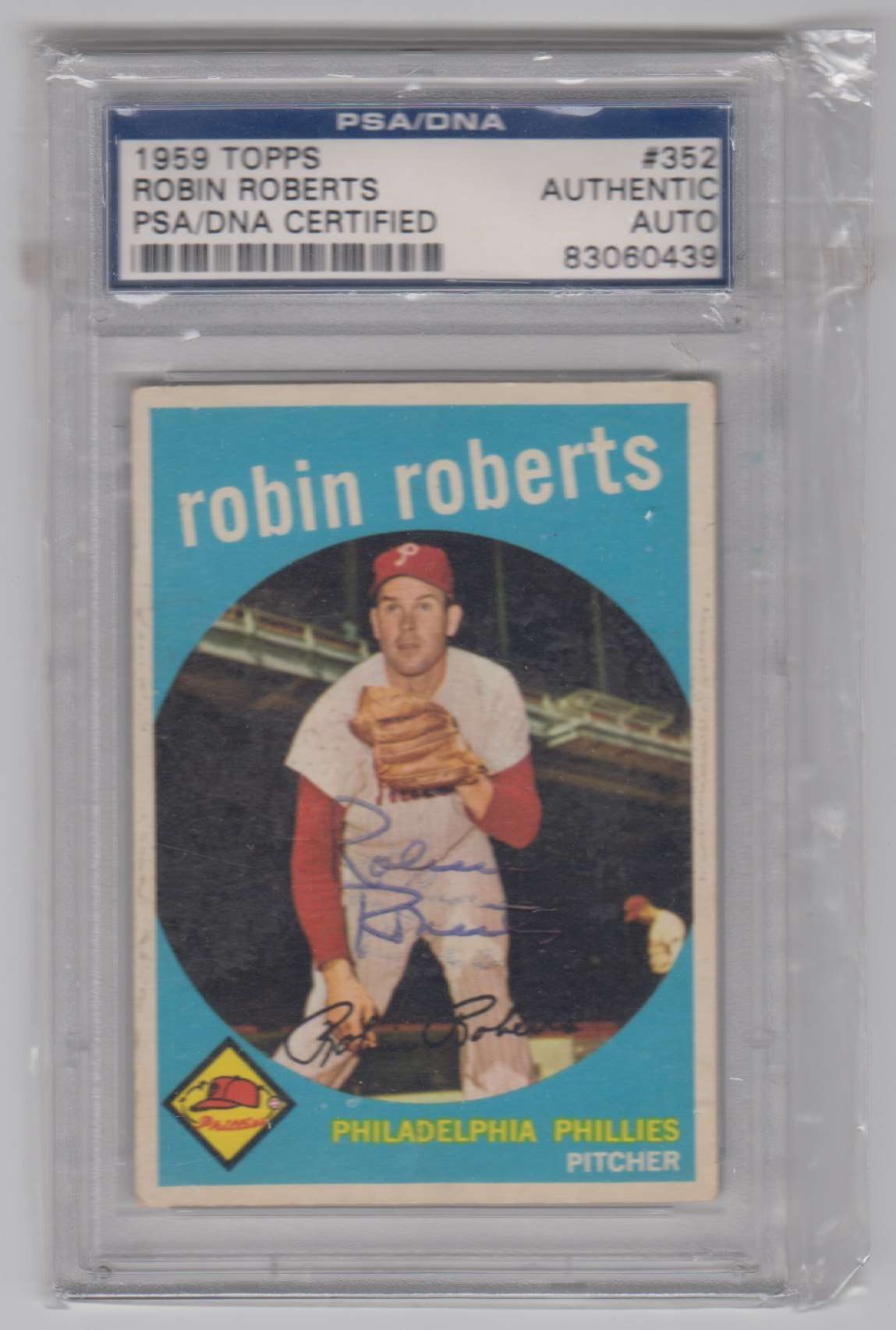 1959 Topps Robin Roberts #352 card front image