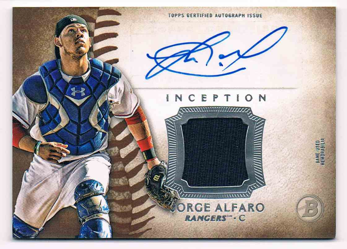 2015 Bowman Inception Jorge Alfaro #IAR-JA card front image