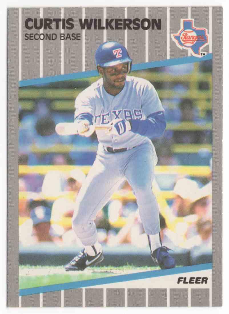 1989 Fleer Curtis Wilkerson #535 card front image