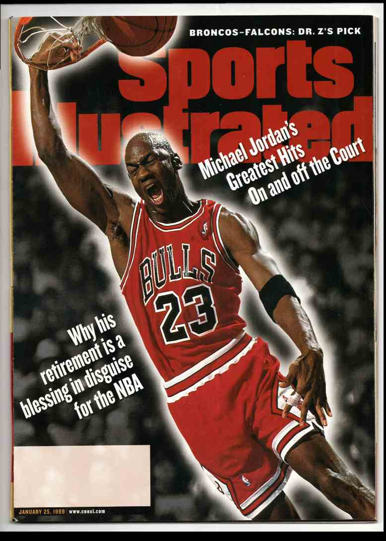 1999 Sports Illustrated Michael Jordan #1-25-99 card front image