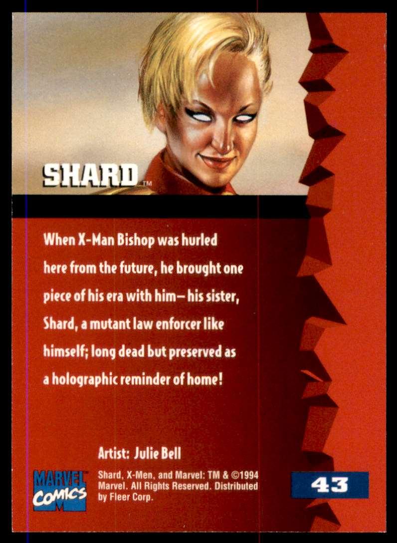 1995 X-Men Ultra Shard #43 card back image