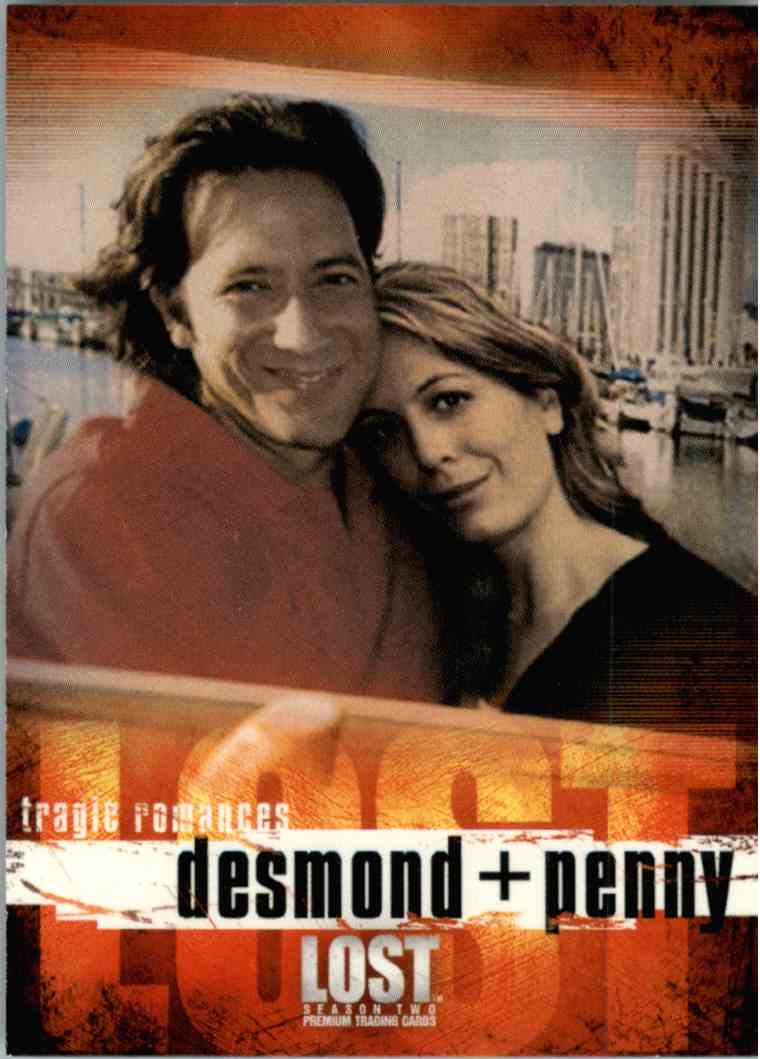 2006 Inkworks Lost Season 2 Desmond + Penny #84 on