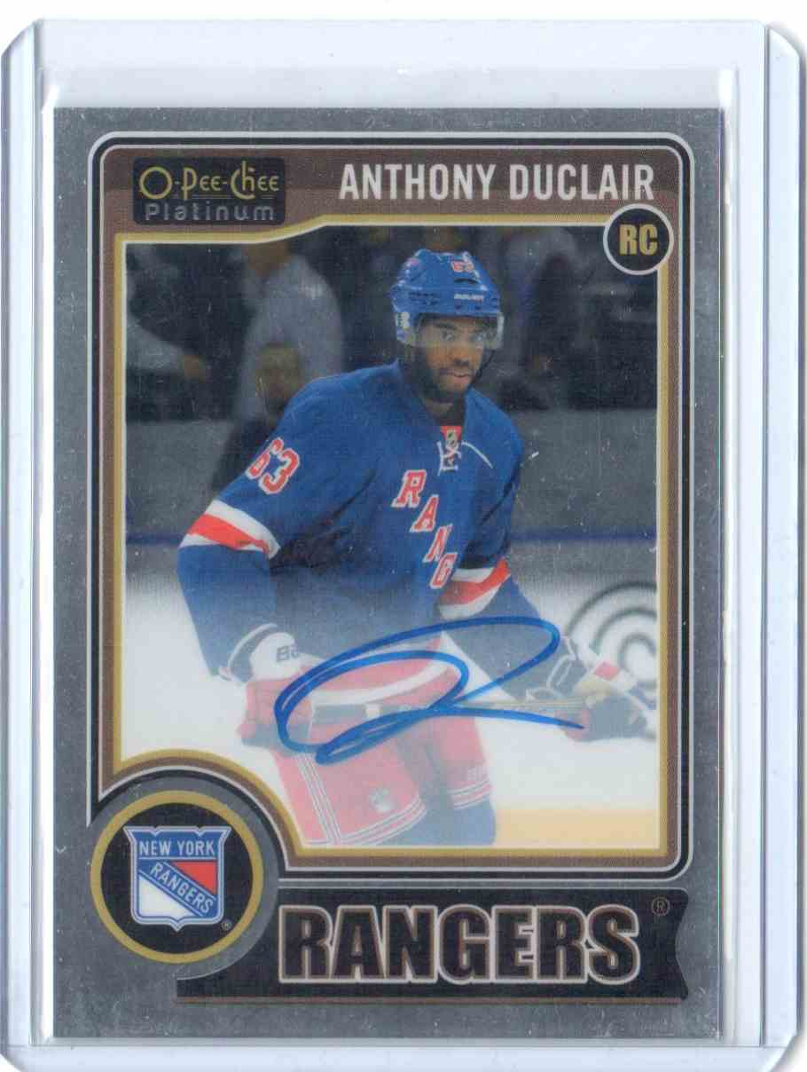2014-15 O-Pee-Chee Platinum Rookie Autographs Rainbow Anthony Duclair #RA-18 card front image