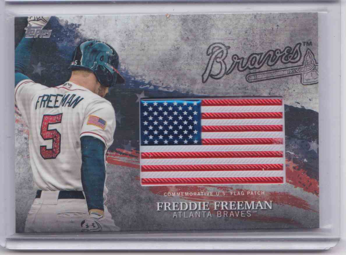 2018 Topps Series 2 MLB Independence Day U.S. Flag Patch Freddie Freeman #IDML-FF card front image