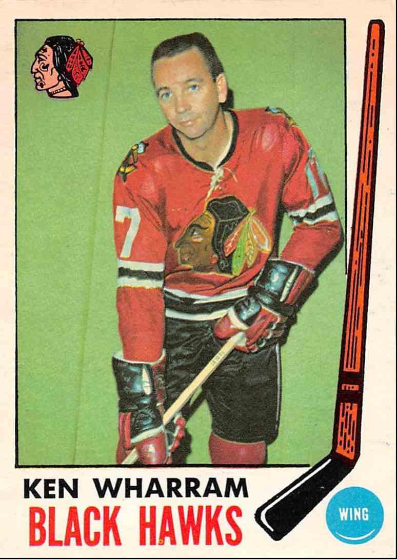 1969-70 O-Pee-Chee Ken Wharram #74 card front image