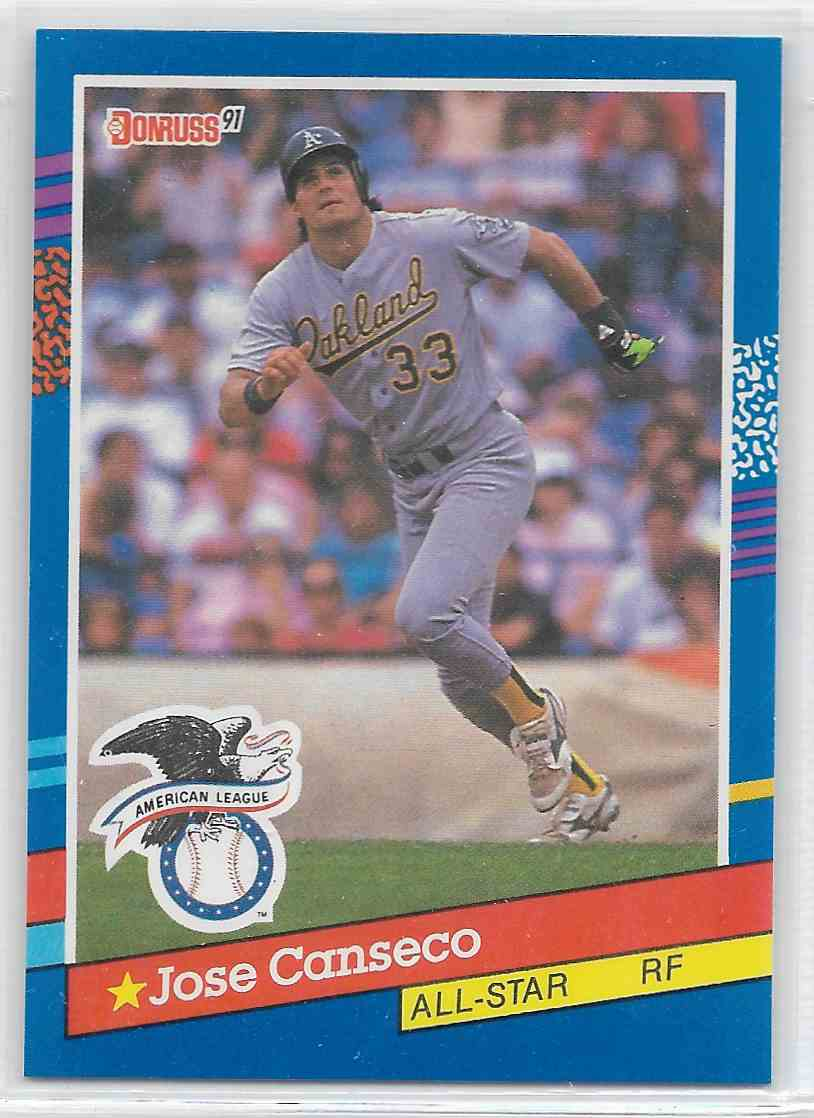 1991 Donruss Error Jose Canseco 50 On Kronozio