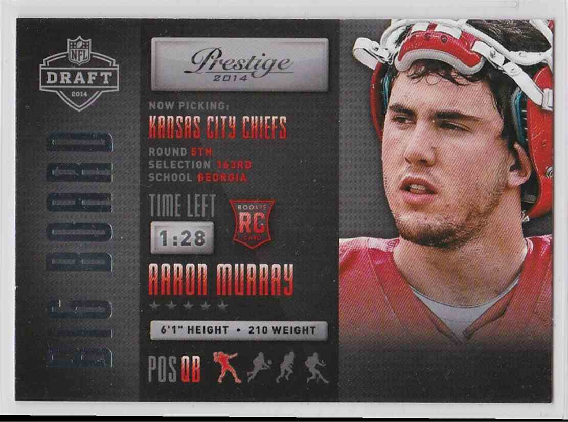 2014 Panini Prestige Big Board Aaron Murray #16 card front image
