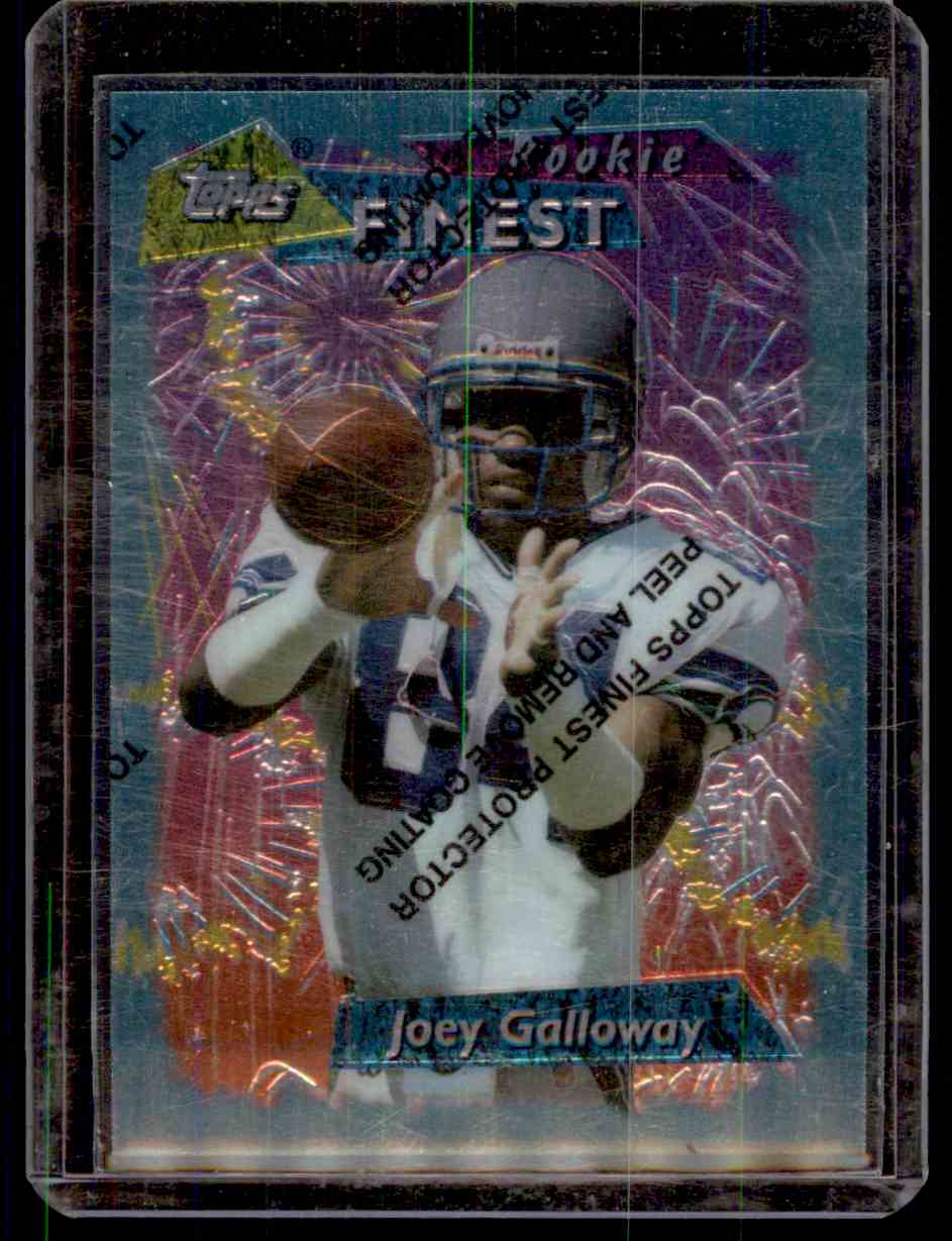1995 Finest Joey Galloway #166 card front image