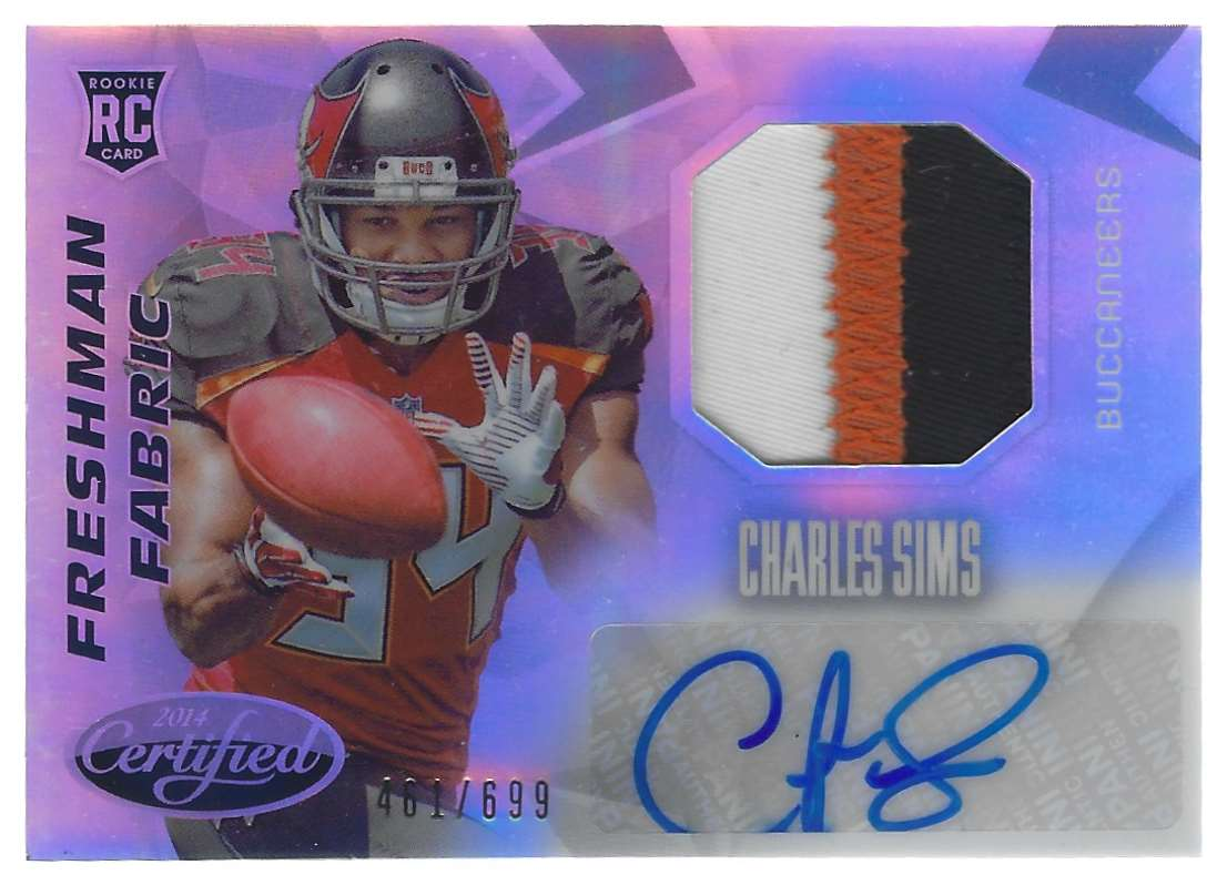 2014 Certified Charles Sims Jsy Au #211 card front image