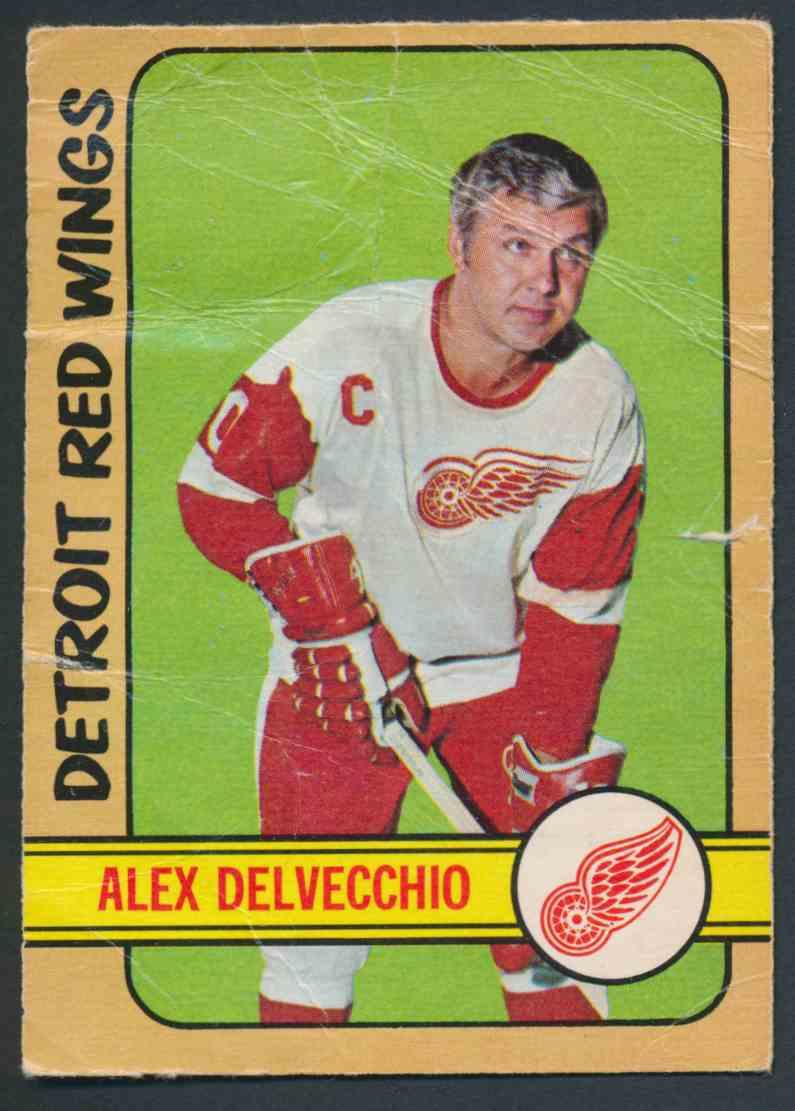 1972-73 O-Pee-Chee Alex Delvecchio card front image