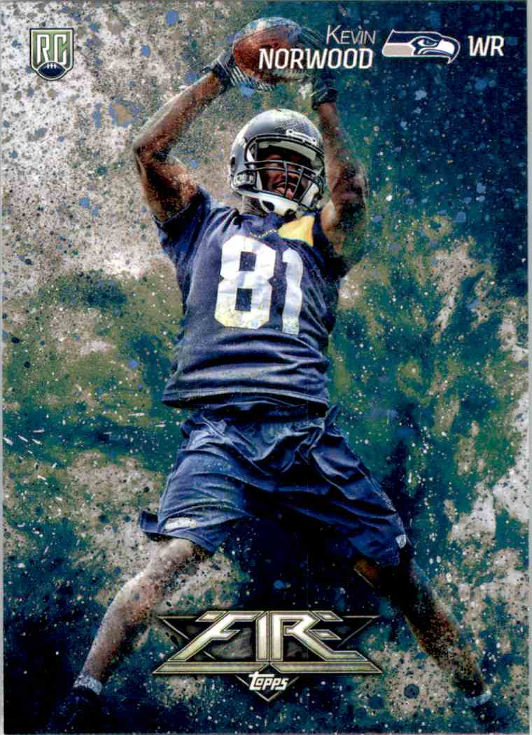 2014 Topps Fire Kevin Norwood RC #123 card front image