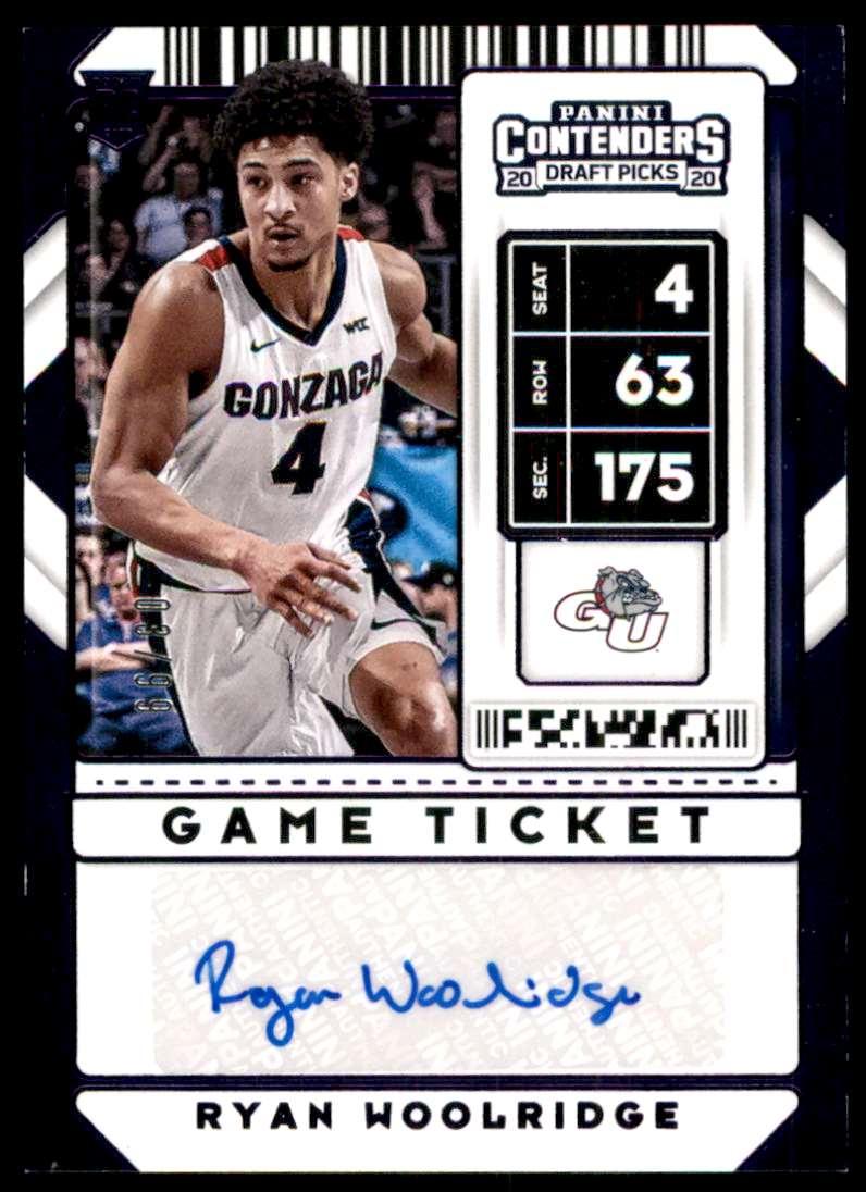 2020-21 Panini Contenders Draft Picks Ryan Woolridge #126 card front image