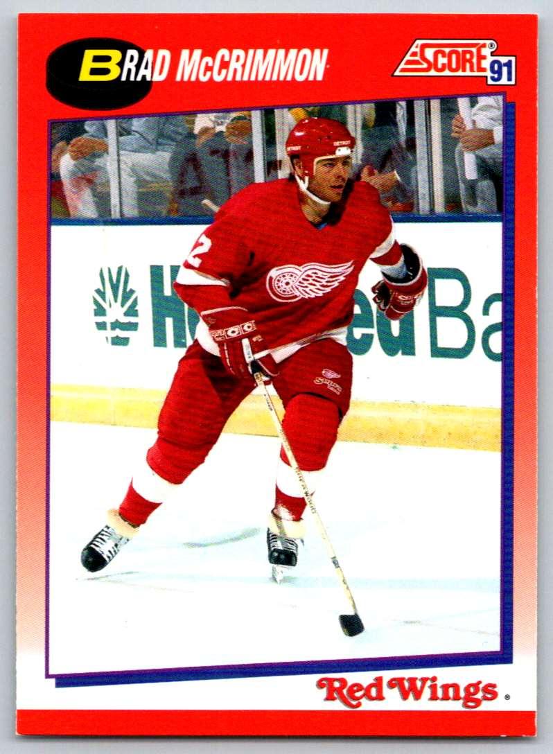 1991-92 Score Canadian Bilingual Brad McCrimmon #16 card front image