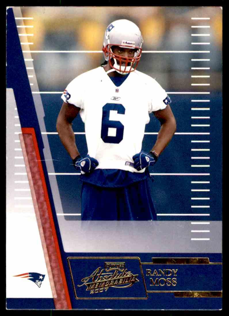 6e06aa4064d 2007 Absolute Memorabilia Randy Moss  88 card front image