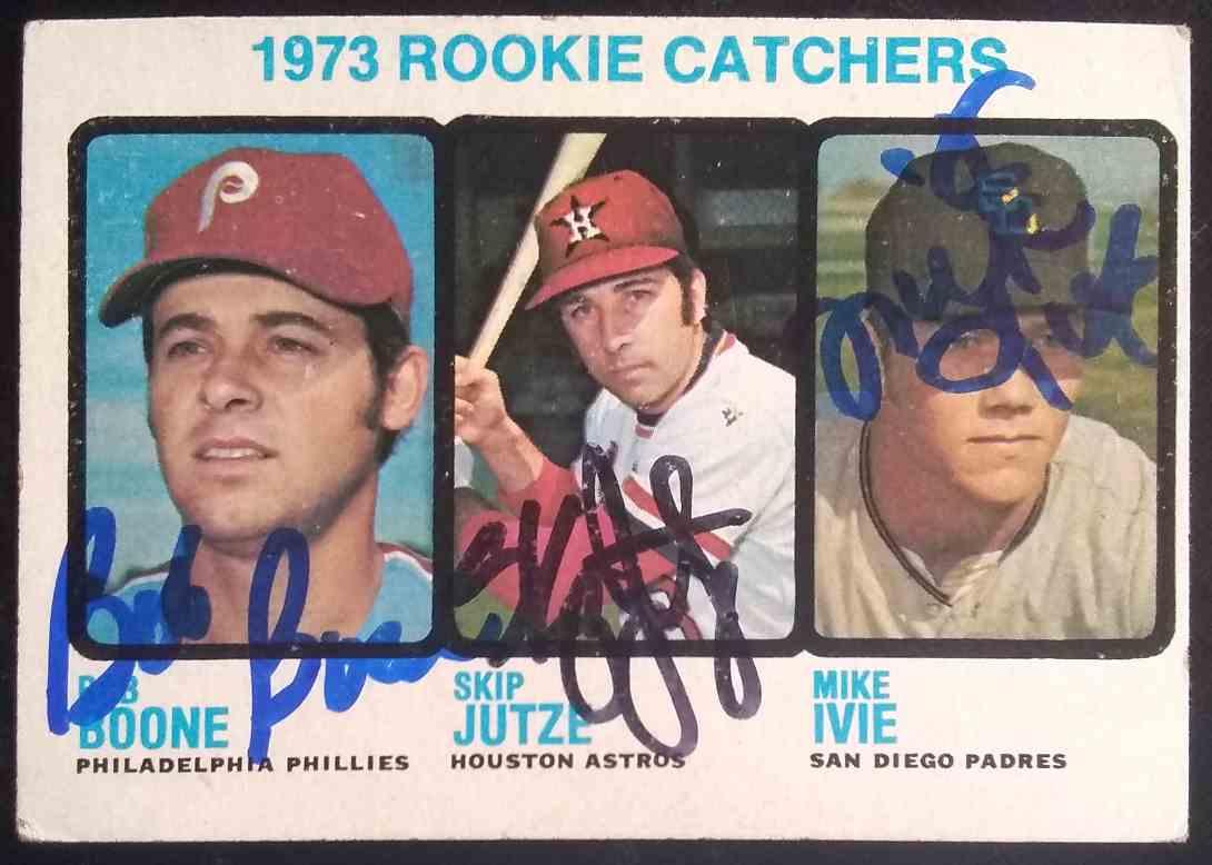 1973 Topps Bob Boone Skip Jutze Mike Ivie #613 card front image