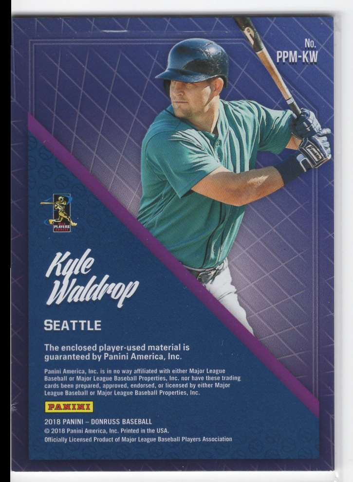 2018 Panini Donruss Promising Pros Materials Kyle Waldrop #PPM-KW card back image
