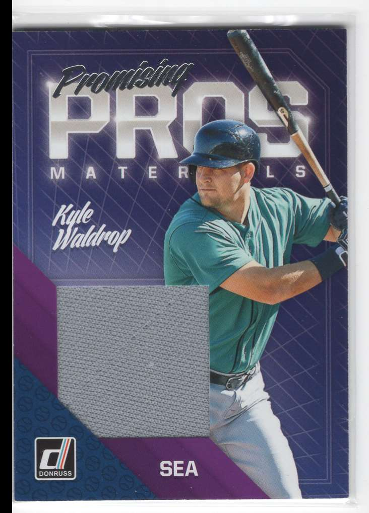2018 Panini Donruss Promising Pros Materials Kyle Waldrop #PPM-KW card front image