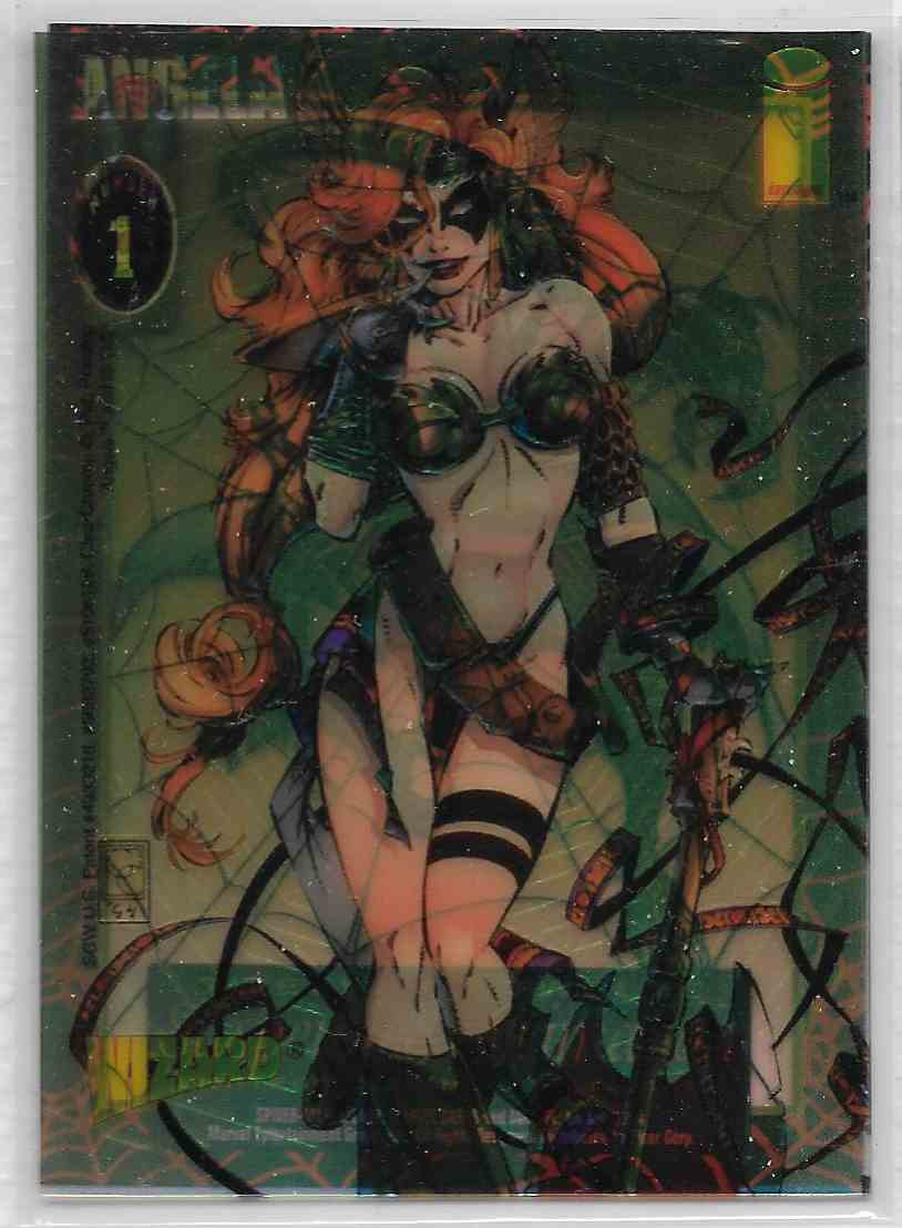 1995 Wizard Magazine Nm Image Comics Angela #1 card front image