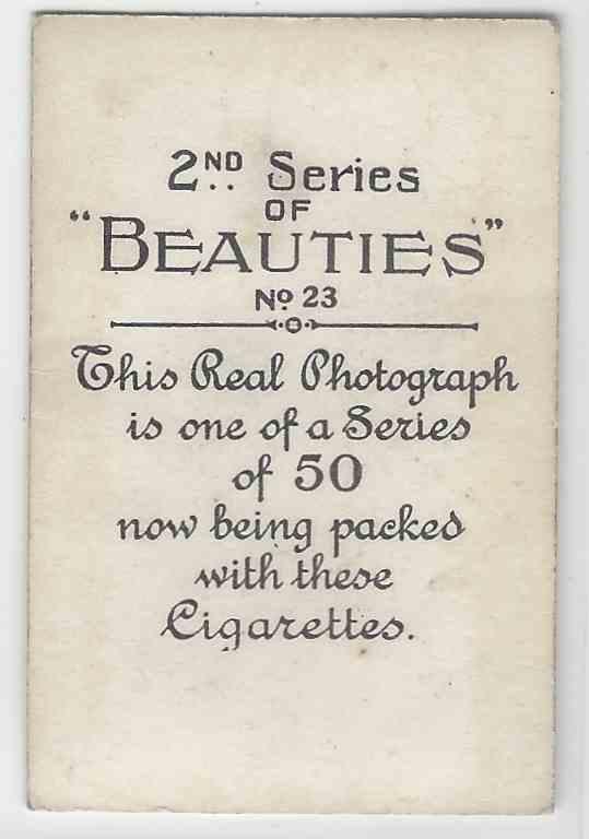 1926 Bat Beauties Evelyn Laye #23 card back image