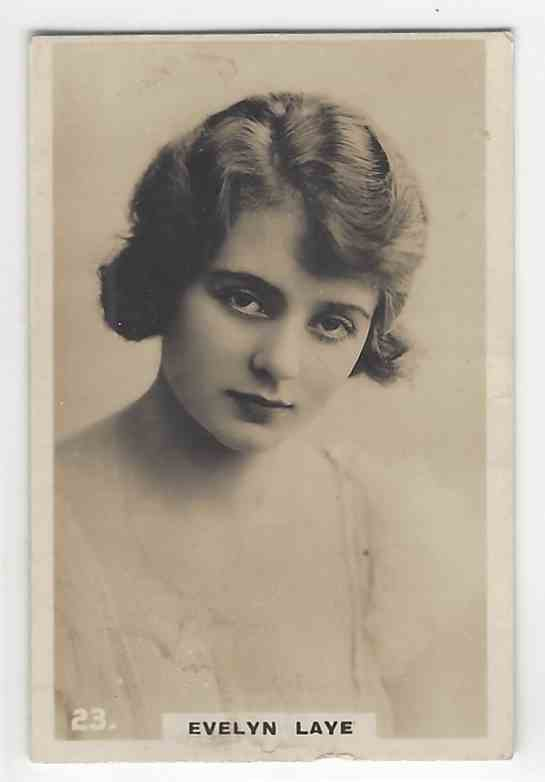 1926 Bat Beauties Evelyn Laye #23 card front image