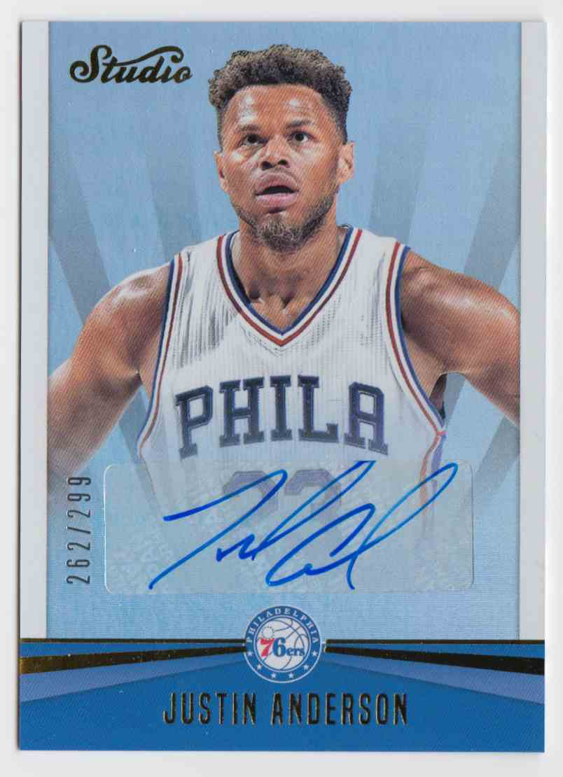 2016-17 Panini Studio Signatures Justin Anderson #4 card front image