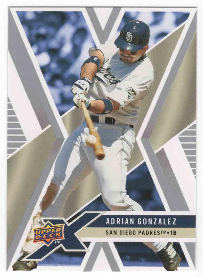 2008 Upper Deck X Adrian Gonzalez #80 card front image