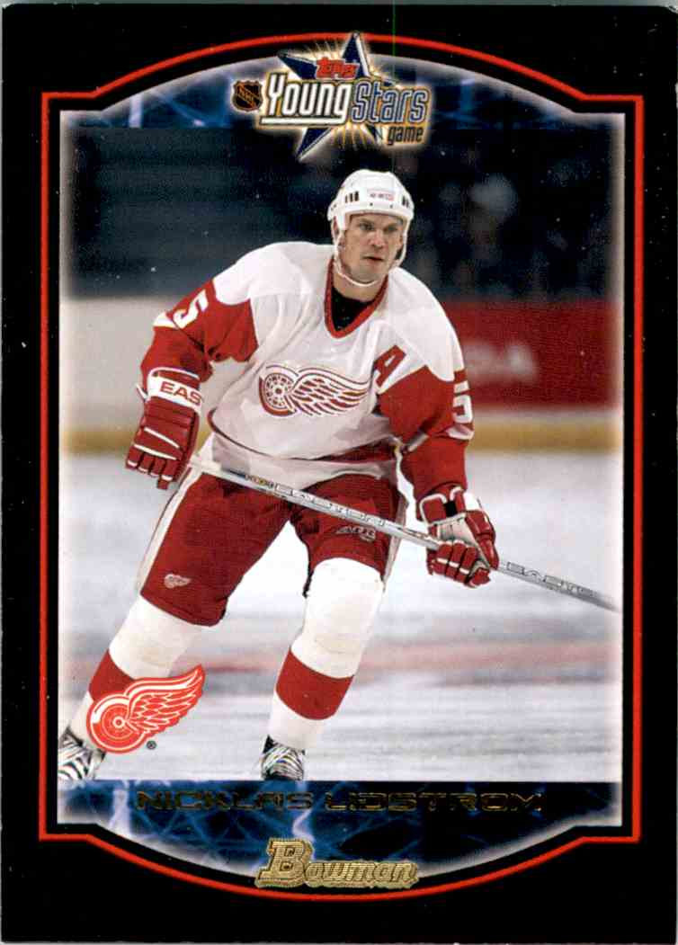 2002-03 Bowman YoungStars Nicklas Lidstrom #1 card front image