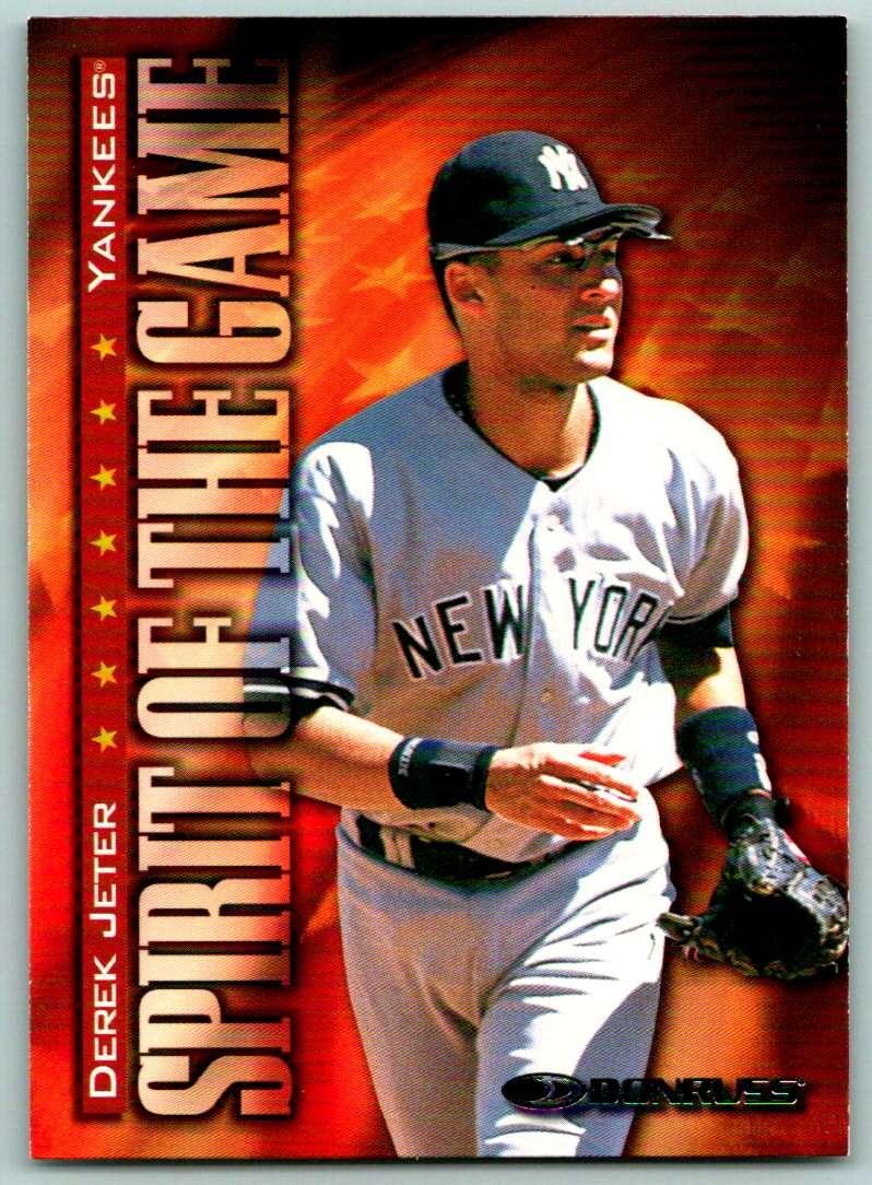 1998 Donruss Spirit Of The Game Derek Jeter #404 card front image