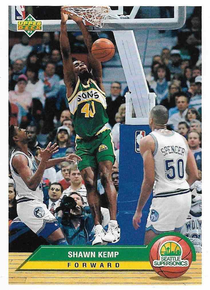 1993-94 Upper Deck McDonald Shawn Kemp #P38 card front image