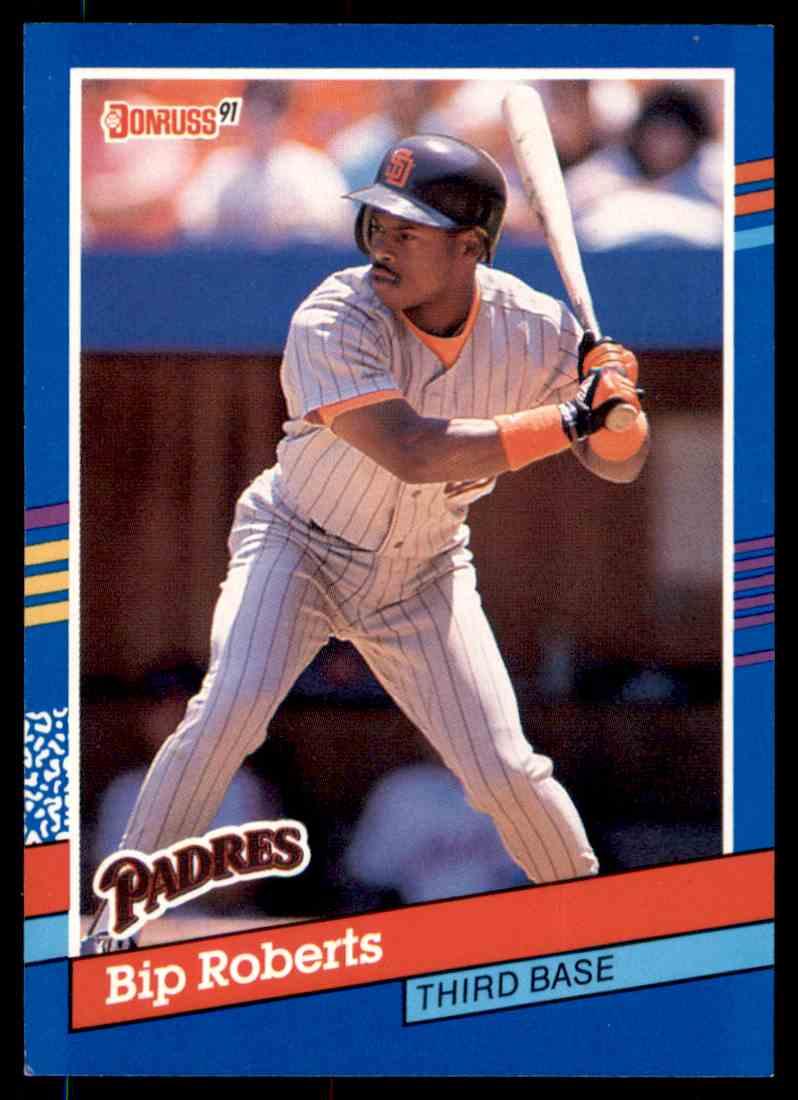 1991 Donruss Baseball Bip Roberts 195 On Kronozio