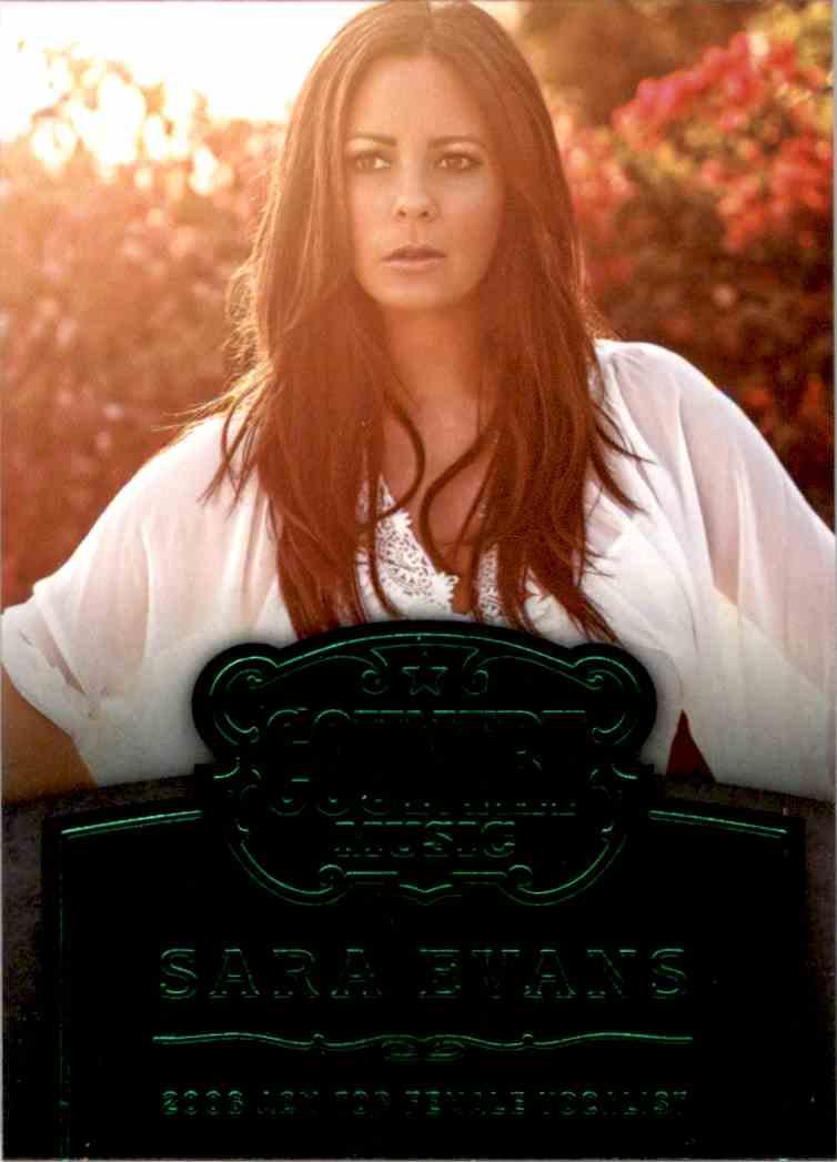 2015 Country Music Award Winners Green Sara Evans #18 card front image
