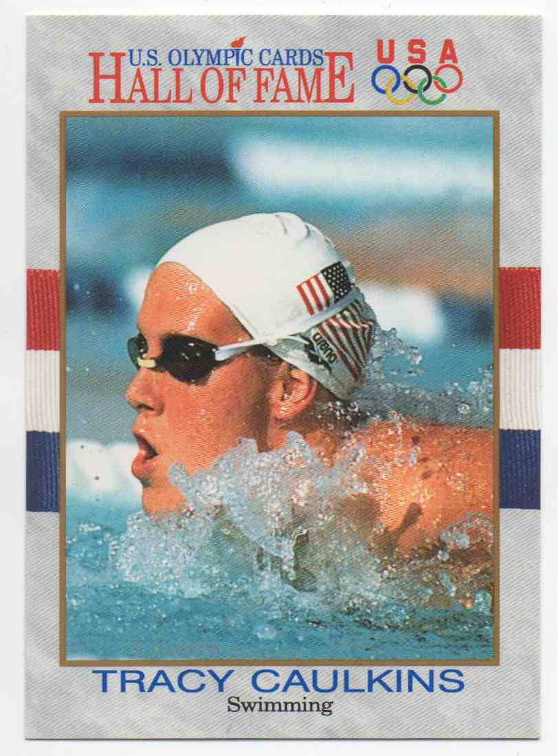 1991 Impel U.S. Olympic Hall Of Fame Tracy Caulkins #45 card front image