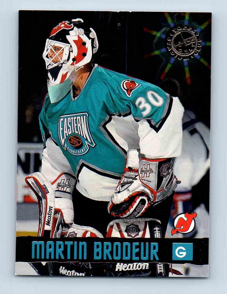 1996 97 Topps Stadium Club Only 50 Martin Brodeur 29 On Kronozio