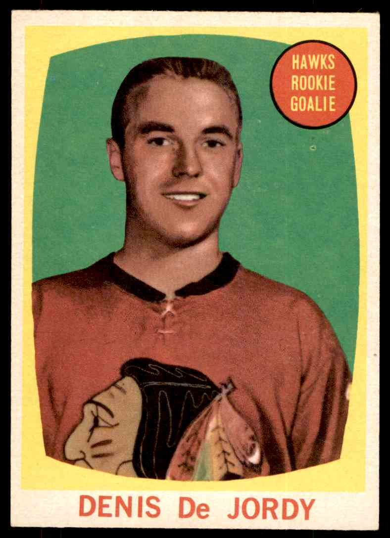 1961-62 Topps Denis DeJordy #37 card front image