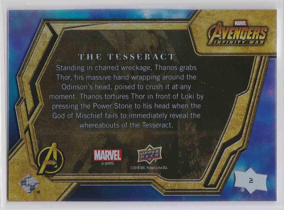 2018 Upper Deck Avengers Infiity War Tier 1 Thanos #2 card back image