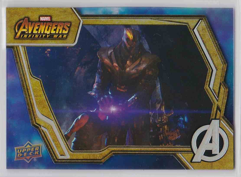 2018 Upper Deck Avengers Infiity War Tier 1 Thanos #2 card front image