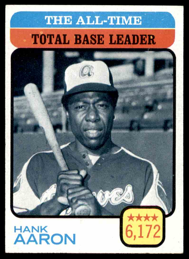 1973 Topps All Time Total Base Leader Hank Aaron 473 On