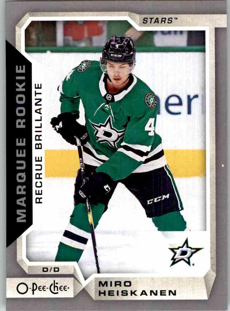 2018-19 O-Pee-Chee Marquee Rookie Silver Miro Heiskanen #628 card front image