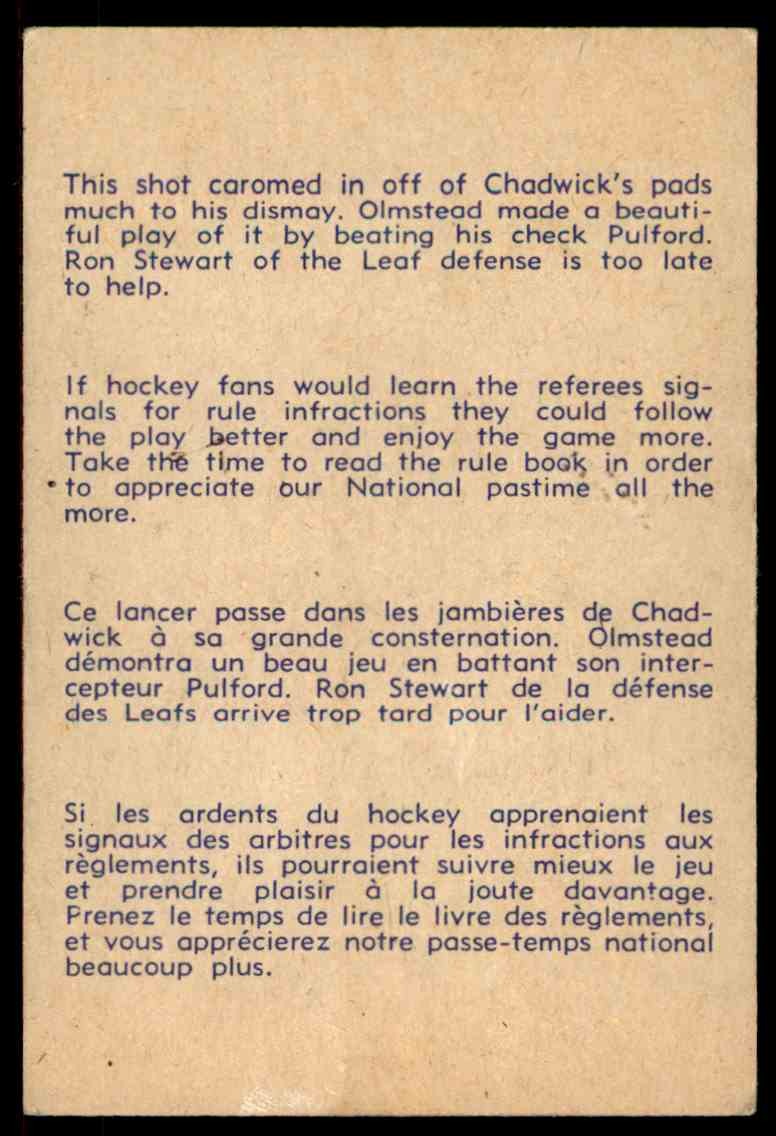 1957-58 Parkhurst Olmsteadbeats Chadwick #25 (02) card back image