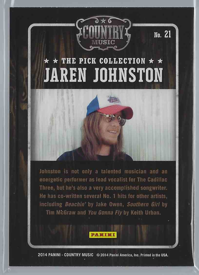2015 Country Music Pick Collection Jaren Johnston #21 card back image
