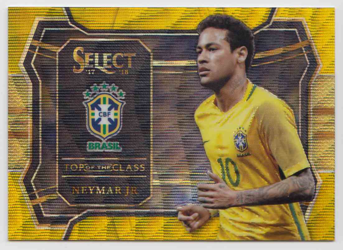 2017 Panini Select Top Of The Class Prizm Gold Neymar JR. #TC-4 card front image