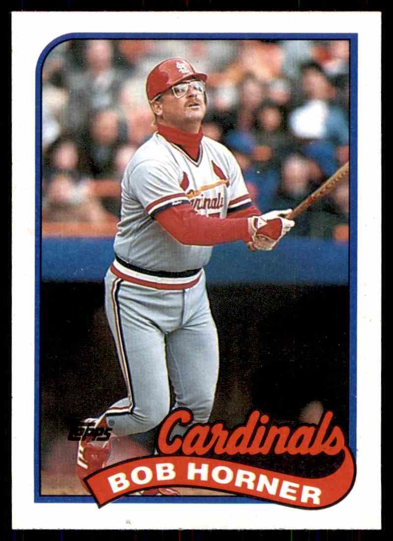 1989 Topps Baseball Bob Horner 510 On Kronozio