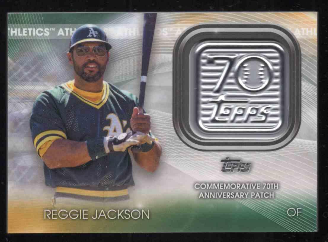 2021 Topps 70th Anniversary Commemorative Logo Patches Reggie Jackson #70LPRJ card front image