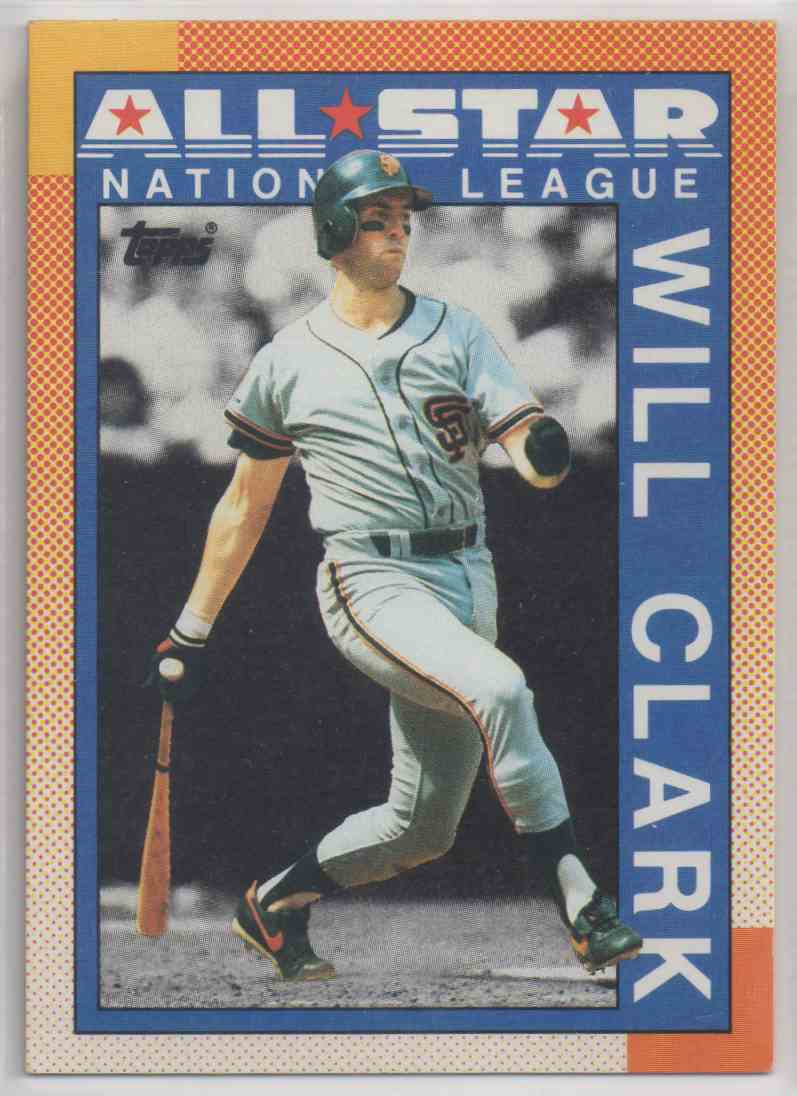 1990 Topps All Star Collection Will Clark San Francisco Giants 397